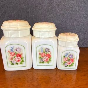 Vintage Avon Bird of Paradise canisters